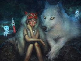 Princess Mononoke by PerlaMarina