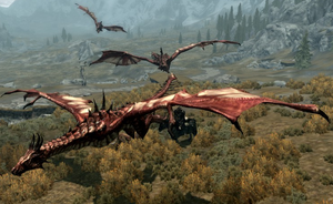 Dive bomb the Dovahkin! by MotPArt
