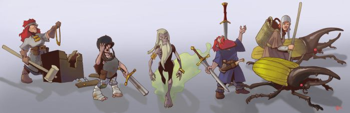 dwarf personalities by Pachycrocuta