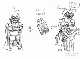 Dr. Doom with some Happy Pills by theINAshow