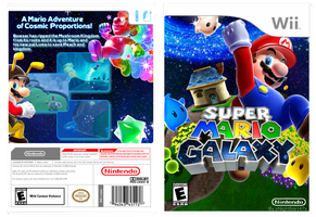 Super Mario Galaxy Fan box art by xNightfire147x