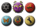 Shields with Sigils and Mottos by FeroceFV
