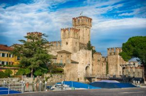 Sirmione Castle on Lake Garda by roman-gp