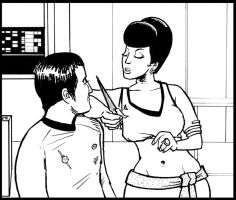 MIRROR SULU and UHURA by phymns