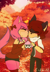 .:Fall Love:. Collab with Kaizerveil707 by Xx-CeceCoolKitty-xX