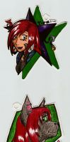 Cat and Tora's Badges by Axiroth
