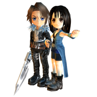 Final Fantasy VIII : Chibi Linoa and Squall. by Kukla-Factory