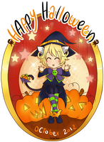 Petit chat noir, bonsoir! - Happy Halloween #2 by ChibiStarProductions
