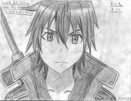 Drawing 29 (Manga) Kirito (Keven Soucy) by Kdor2684