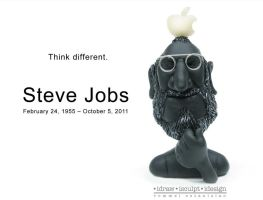 Clayricature of Steve Jobs by Dinuguan