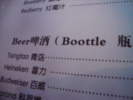 Can I have a boottle of beer? haha! Chinglish by Laura-in-china