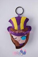 Caitlyn League of Legends chibi felt keychain by Nyshandra