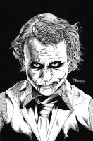 Heth Ledger Joker Commission by paulabstruse
