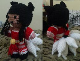 Commission - Amigurumi Ahri by Ayinai