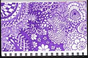 Zentangle Day two by PatientSoul88