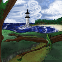 Wind at the Lighthouse by AgentMoore