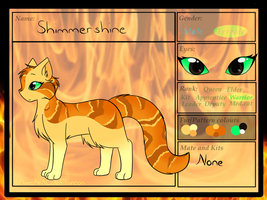 Secrets-of-the-Clans - FireClan - Shimmershine by CuteFlare