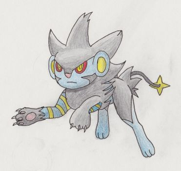 Luxray Drawing by BronySideswipe