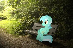 Lyra relaxing in the Park by HAchaosagent