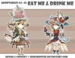 [CLOSED] Adoptables 44-45: Eat Me + Drink Me by Serendipiter