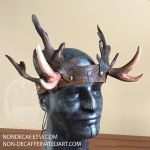 Royal Forest Stag Antler Headdress by nondecaf