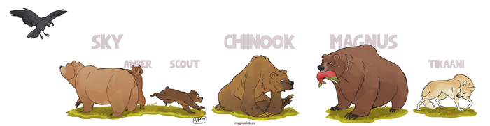 Bears by weremagnus