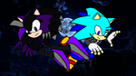 Combat In Darkness Psychic Vs Storm by jasonthehedgehog1