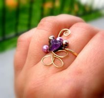 Gold + Mauve ring by buttercreamfantasies