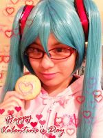 Happy Valentine's Day from Miku by akarimichelle