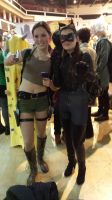 Lara Croft and Catwoman cosplay by retroenzo