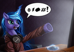 Gamer Luna is not amused by Bra1nEater