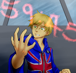 Commission - World Ends With England (APH/TWEWY) by Diamondsnake