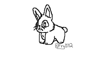 Bunneh lineart by TheFrymon
