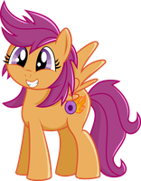 Adult Scootaloo Vector by blueblitzie