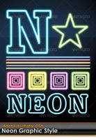 Neon Illustrator Graphic Style by gruberdesigns