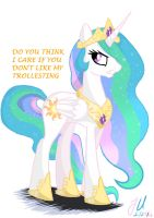 Annoyed Princess Celestia by teammagix