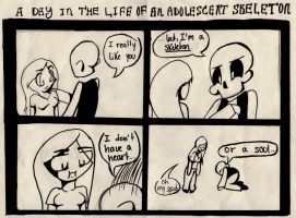 A DAY IN THE LIFE OF AN ADOLESCENT SKELETON by raych3l