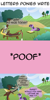 COMIC - letters ponies write by Ponczeg