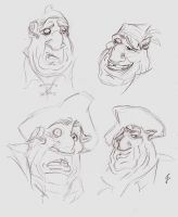 John Silver sketches by LightlyBow