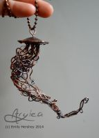 Flow - Copper Jellyfish by Aryiea
