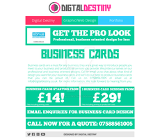Business Cards Design Page Redesign by DigitallyDestined