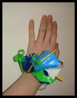 DuctTape BlueCallaLily Corsage by DuckTapeBandit