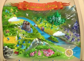 Magic land map by Zzanthia