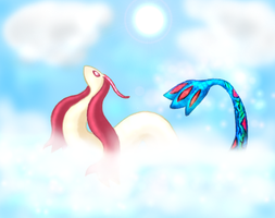 Milotic by Sapphiresenthiss
