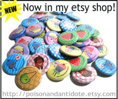 Buttons Now Available by chat-noir