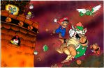 Mario VS Bowser FINAL FIGHT - Egli - Colored by SurfTiki