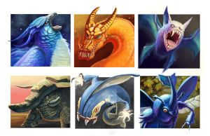 Pokemon Interpretations 1 by Ammonite-Amy