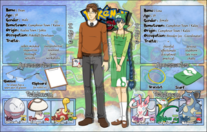 Pokemon OC SHEET: Dean and Lina (parents) by Ya-e