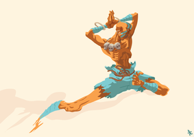Dhalsim Dash by poipopoi