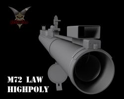M72 LAW Highpoly 3 by mSkull001